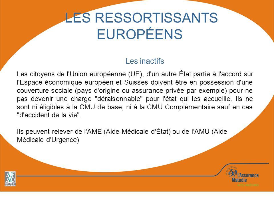 LES RESSORTISSANTS EUROPÉENS