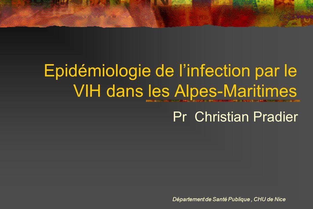 Epidémiologie de l'infection par le VIH dans les Alpes-Maritimes