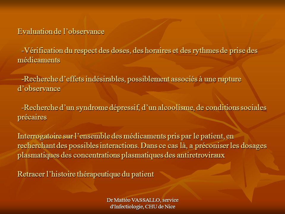 Dr Mattéo VASSALLO, service d Infectiologie, CHU de Nice