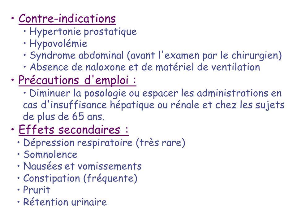 Contre-indications Précautions d emploi : Effets secondaires :
