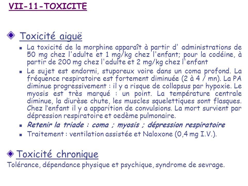 Toxicité aiguë Toxicité chronique VII-11-TOXICITE