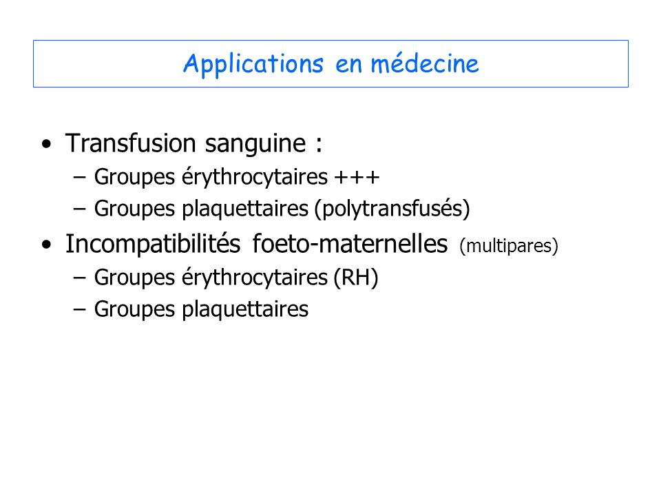Applications en médecine