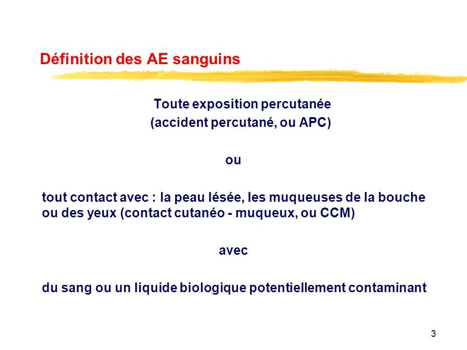 Définition des AE sanguins