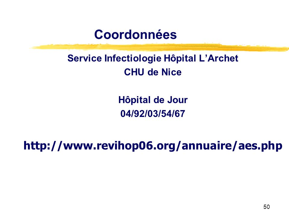 Service Infectiologie Hôpital L'Archet