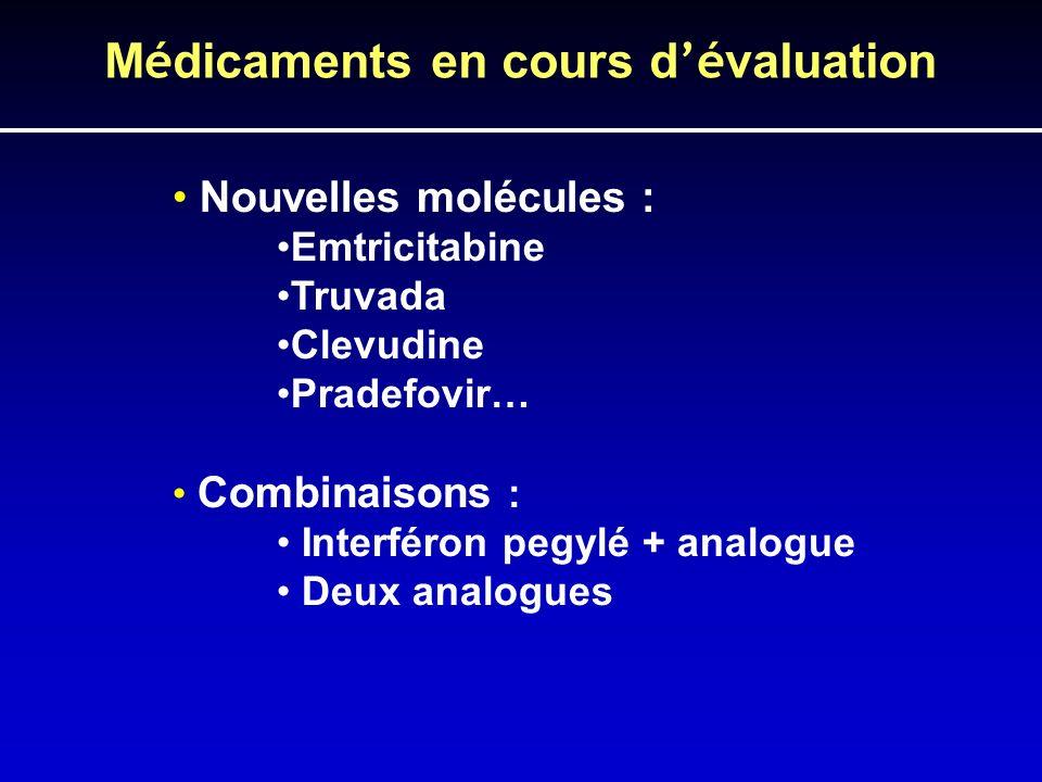 Médicaments en cours d'évaluation