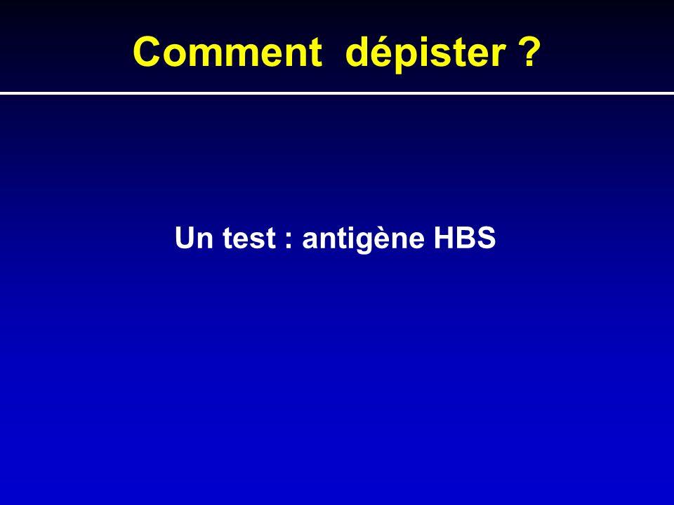 Comment dépister Un test : antigène HBS