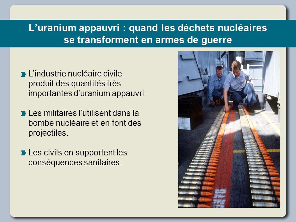 L'uranium appauvri : quand les déchets nucléaires se transforment en armes de guerre