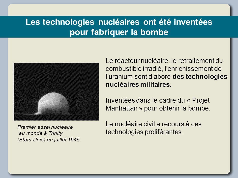 Les technologies nucléaires ont été inventées pour fabriquer la bombe
