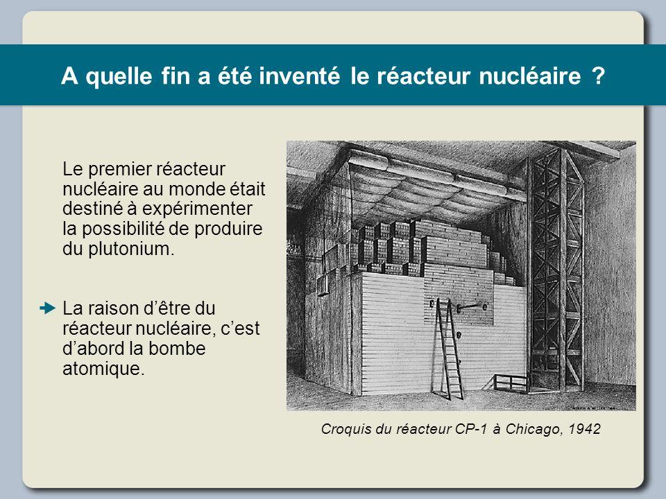 A quelle fin a été inventé le réacteur nucléaire