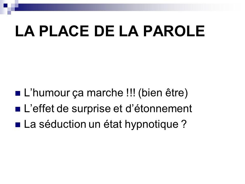 LA PLACE DE LA PAROLE L'humour ça marche !!! (bien être)