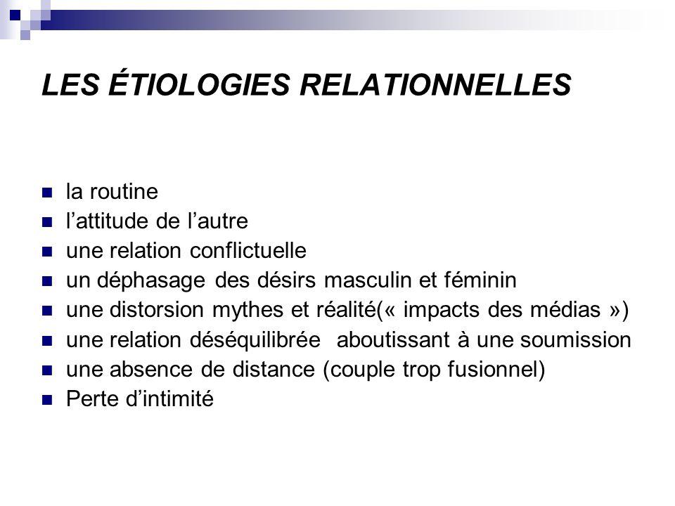 LES ÉTIOLOGIES RELATIONNELLES