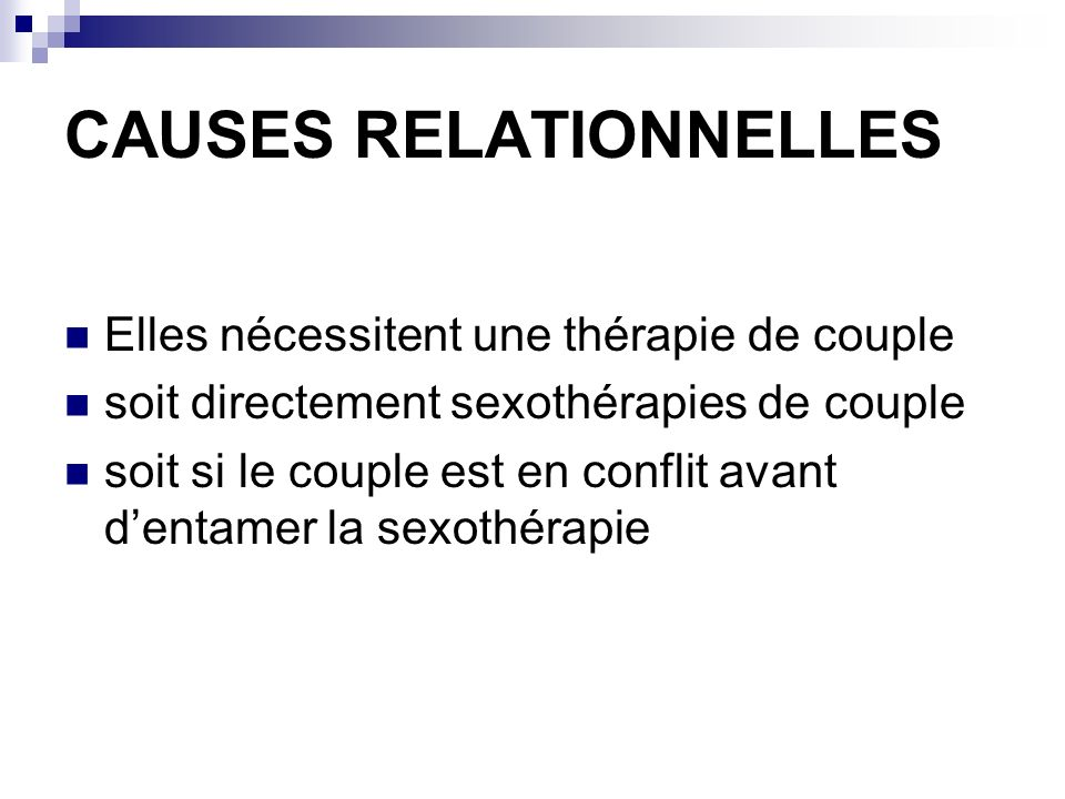 CAUSES RELATIONNELLES