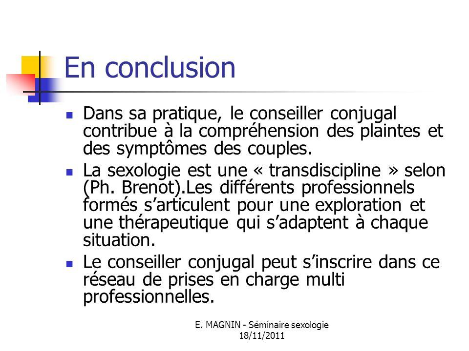 E. MAGNIN - Séminaire sexologie 18/11/2011