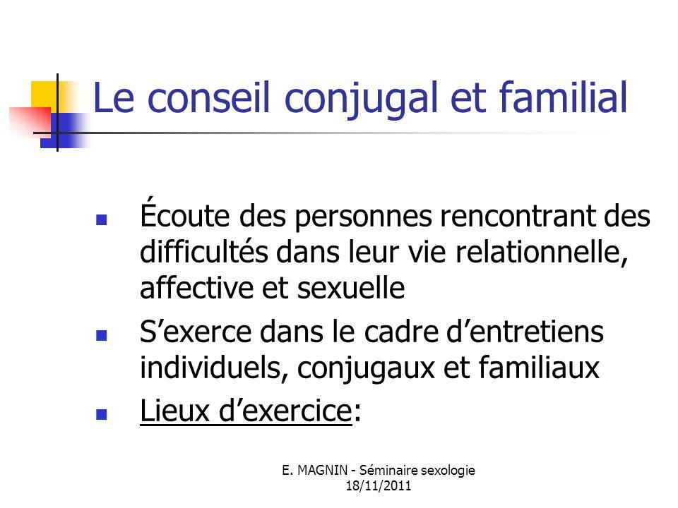 Le conseil conjugal et familial