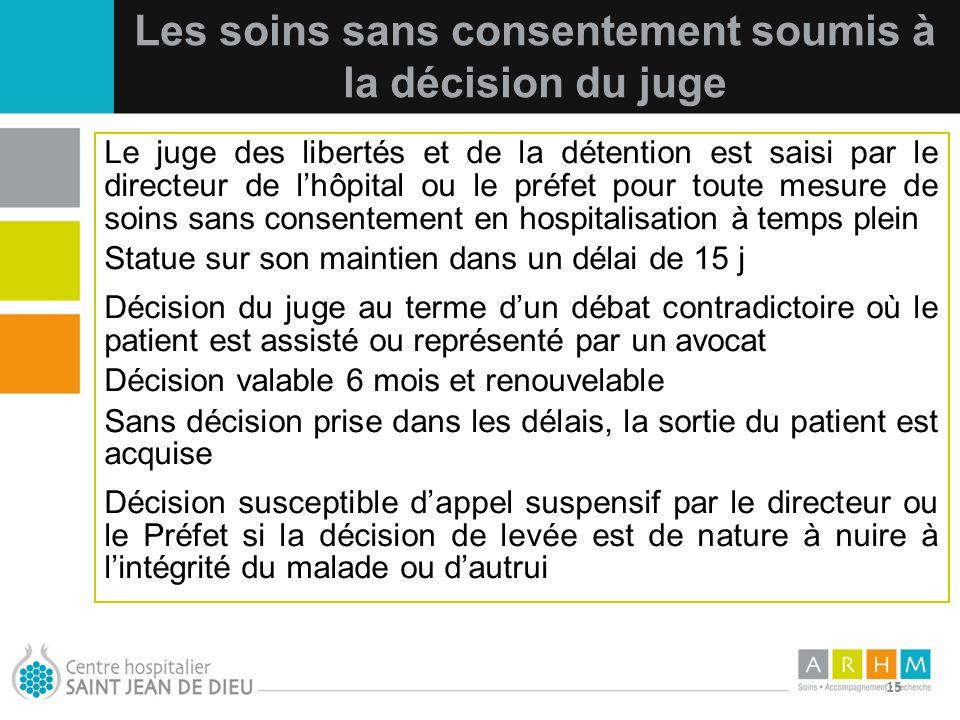 Les soins sans consentement soumis à la décision du juge