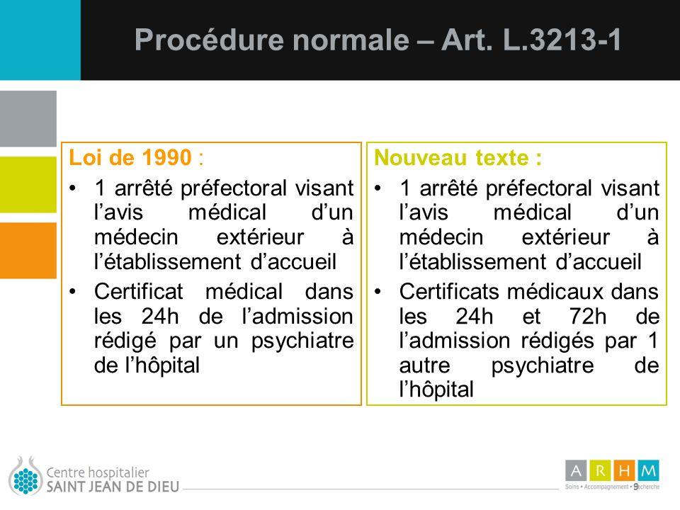 Procédure normale – Art. L.3213-1