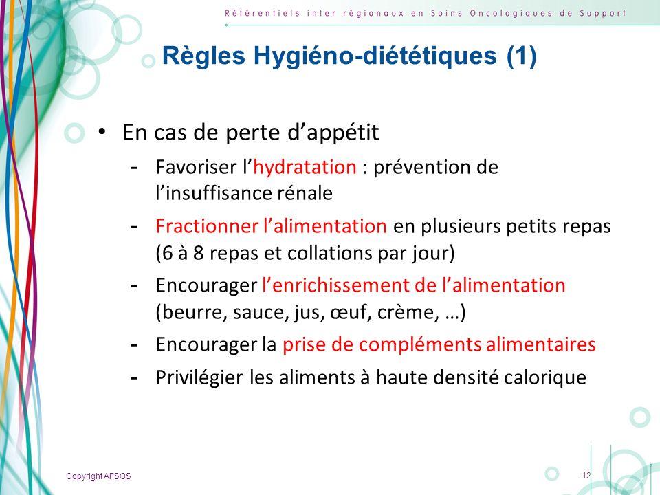Règles Hygiéno-diététiques (1)