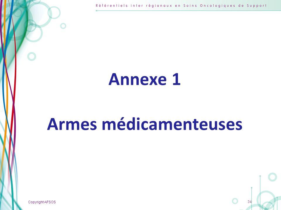 Annexe 1 Armes médicamenteuses