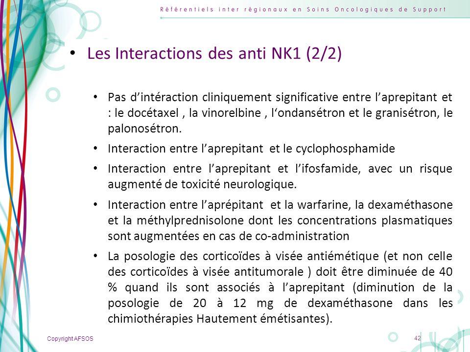 Les Interactions des anti NK1 (2/2)