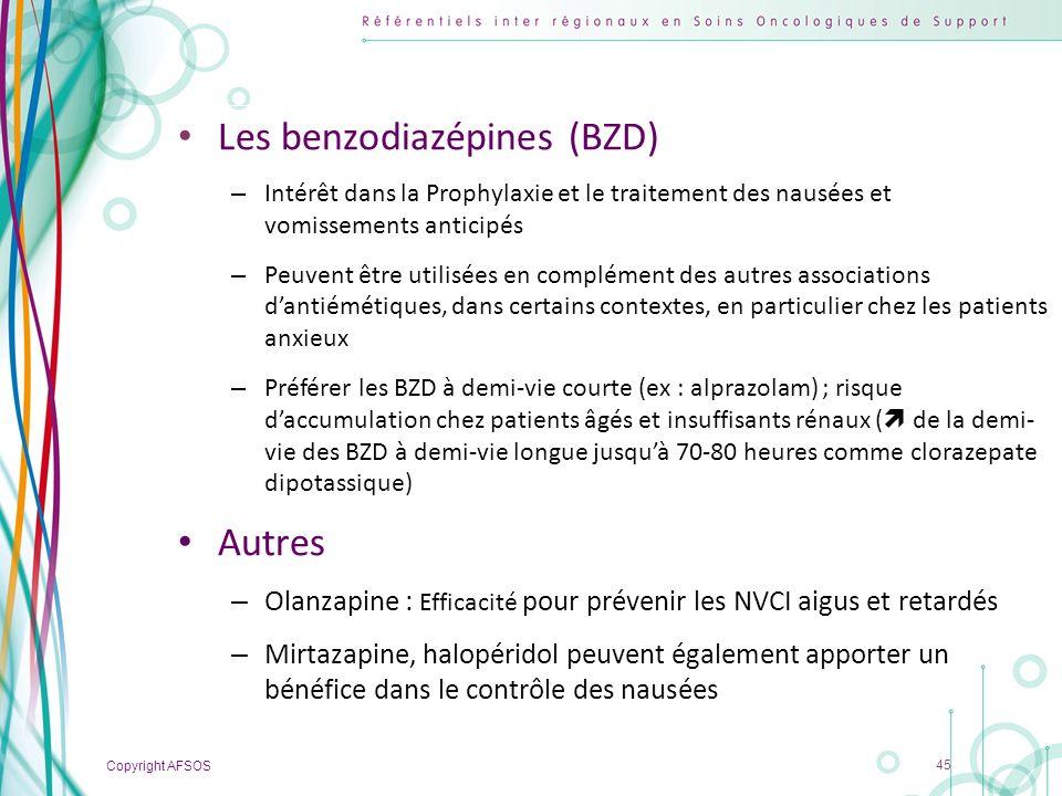 Les benzodiazépines (BZD)