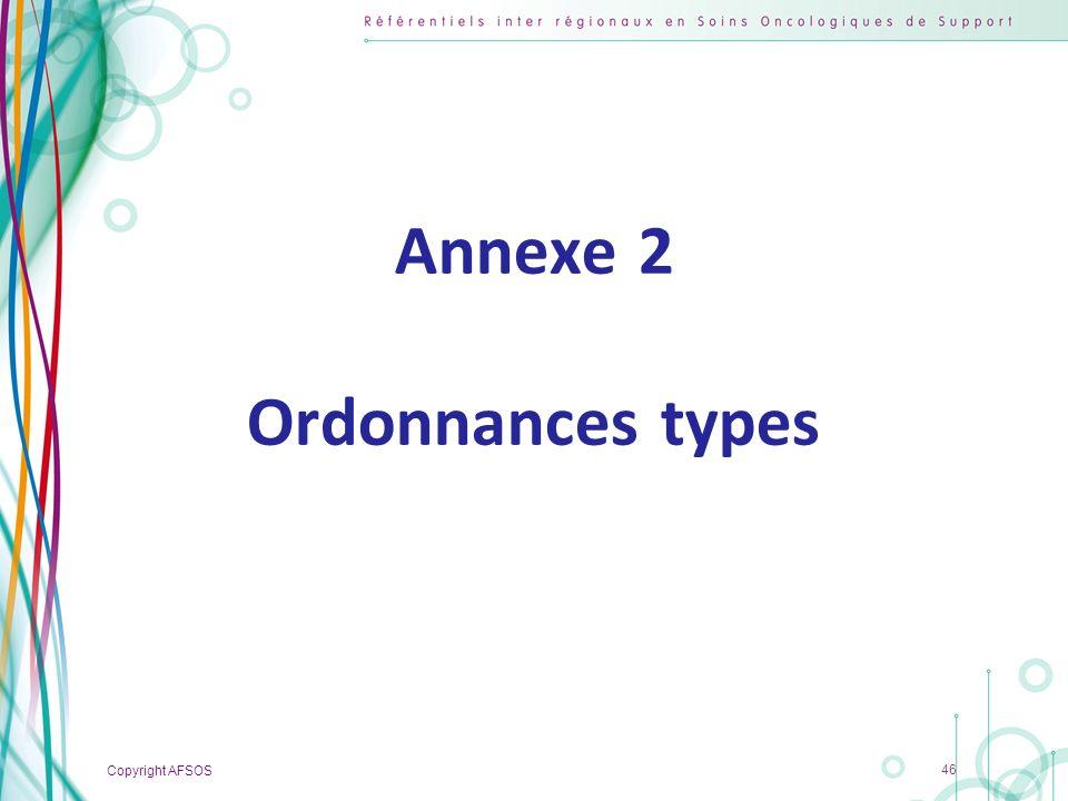 Annexe 2 Ordonnances types