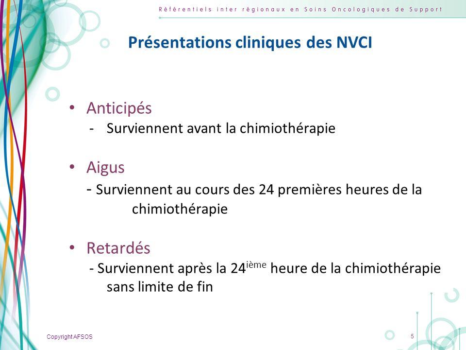 Présentations cliniques des NVCI