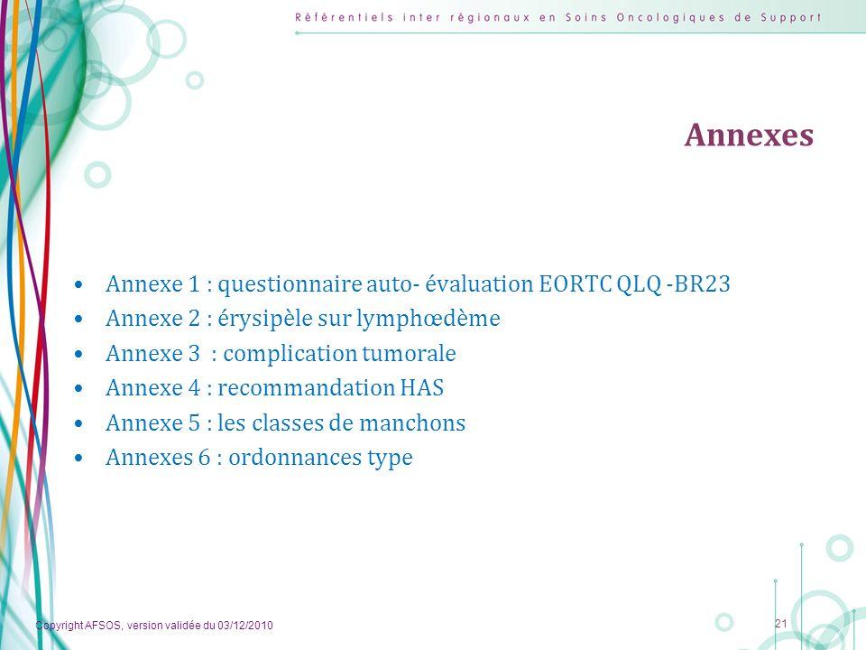 Annexes Annexe 1 : questionnaire auto- évaluation EORTC QLQ -BR23