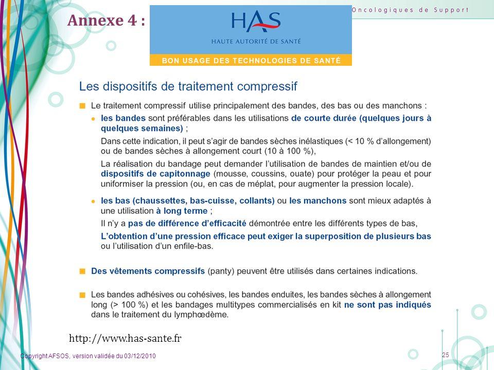Annexe 4 : http://www.has-sante.fr