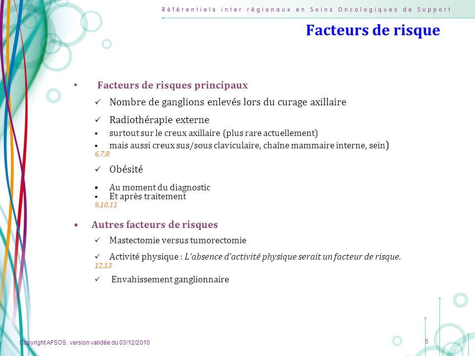 Facteurs de risque Facteurs de risques principaux