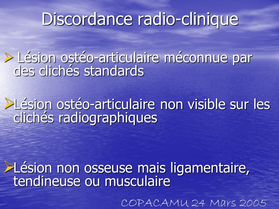 Discordance radio-clinique