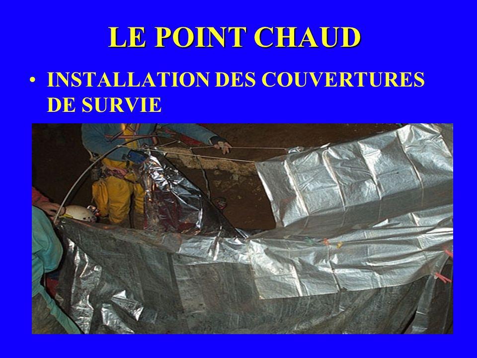 LE POINT CHAUD INSTALLATION DES COUVERTURES DE SURVIE