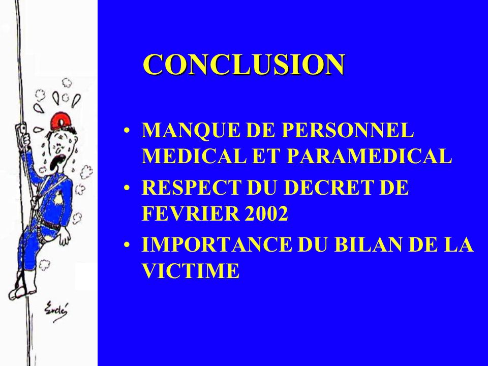CONCLUSION MANQUE DE PERSONNEL MEDICAL ET PARAMEDICAL