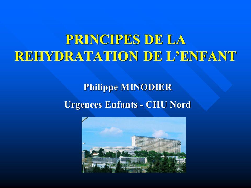 PRINCIPES DE LA REHYDRATATION DE L'ENFANT