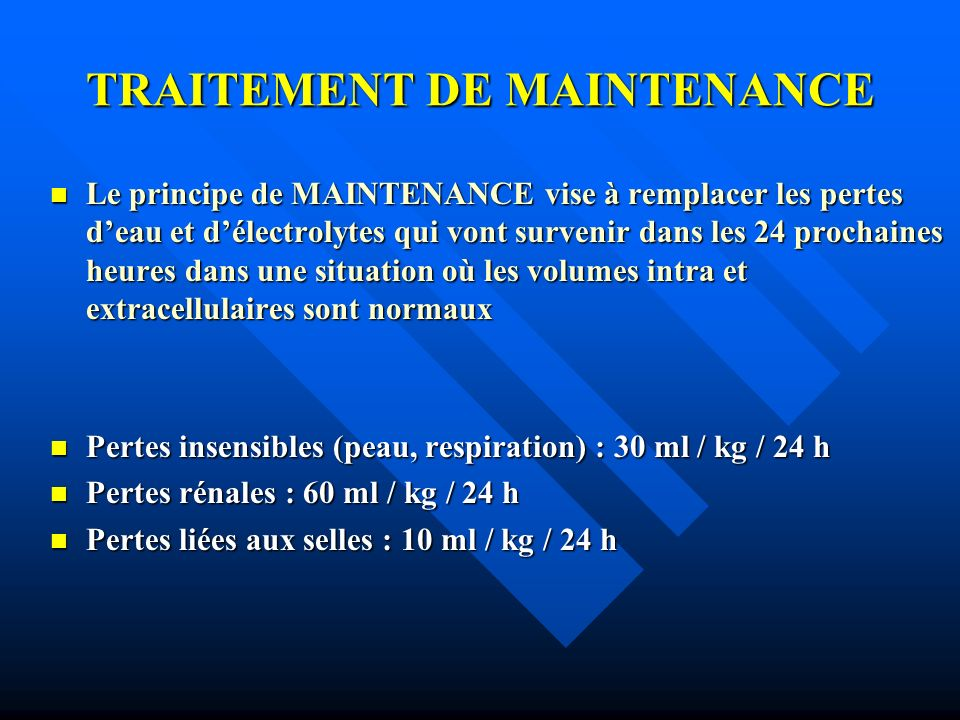 TRAITEMENT DE MAINTENANCE