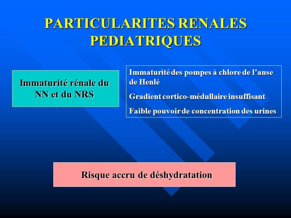 PARTICULARITES RENALES PEDIATRIQUES