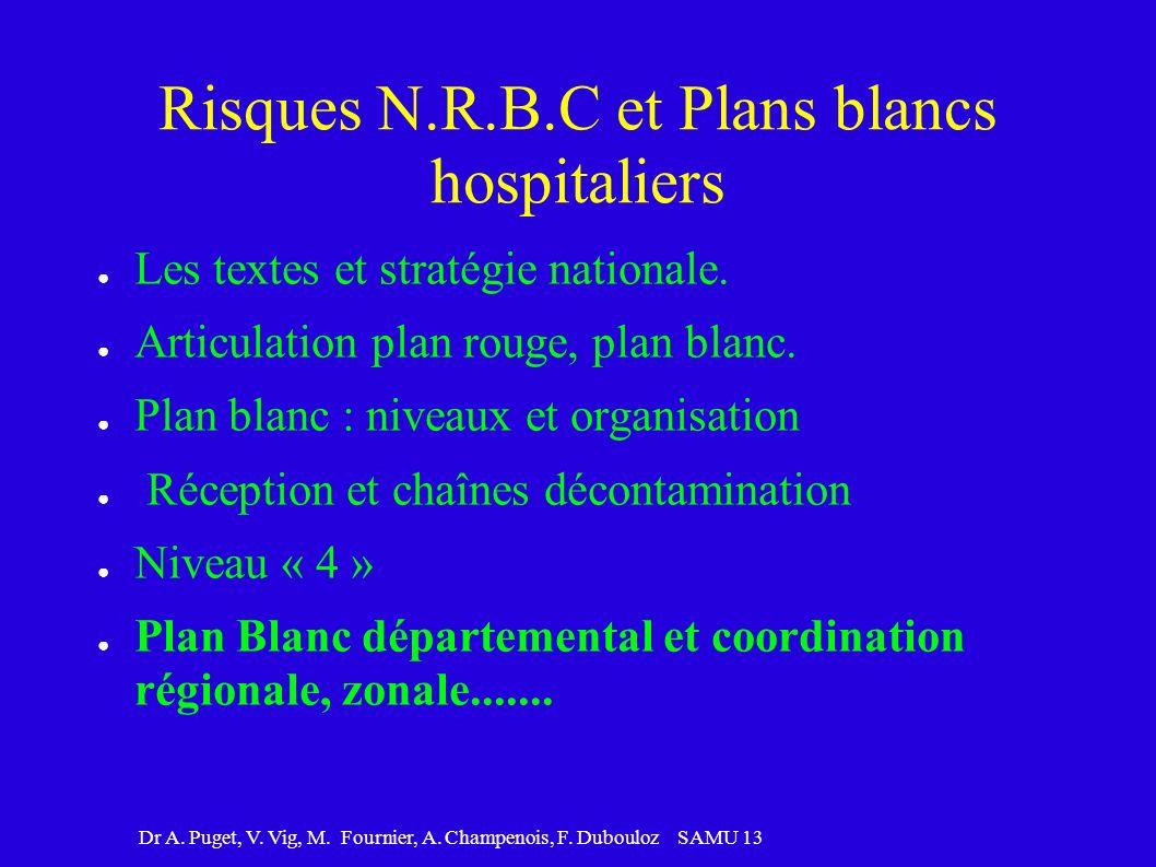 Risques N.R.B.C et Plans blancs hospitaliers