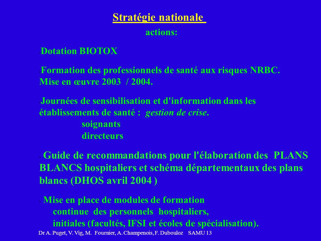 Stratégie nationale actions: Dotation BIOTOX