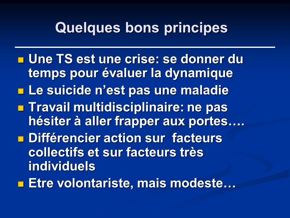 Quelques bons principes