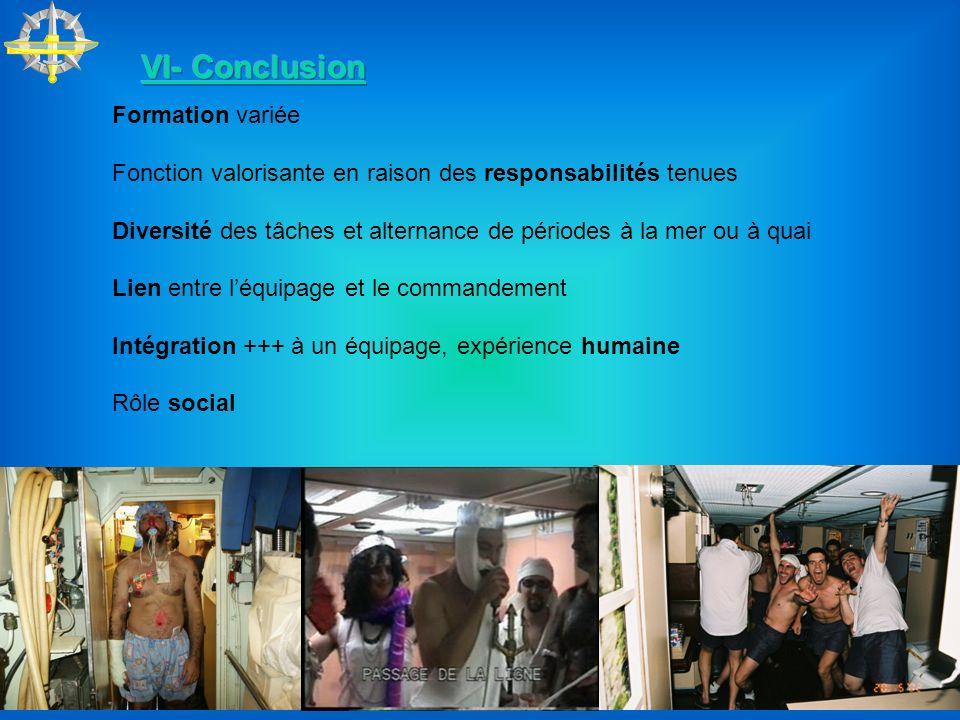 VI- Conclusion Formation variée
