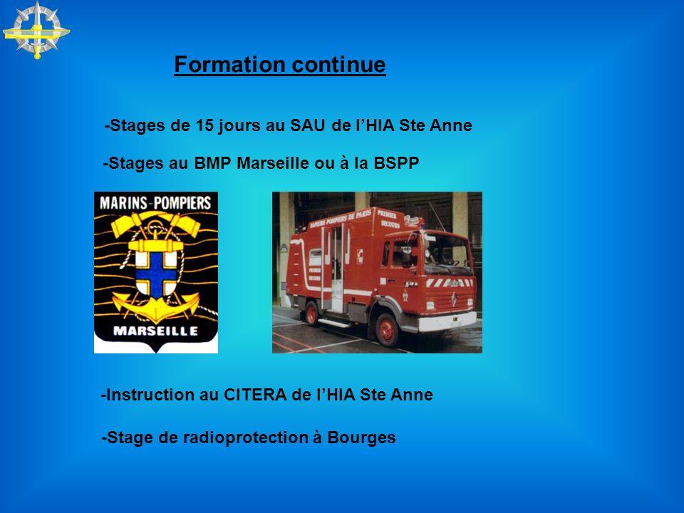 Formation continue -Stages de 15 jours au SAU de l'HIA Ste Anne