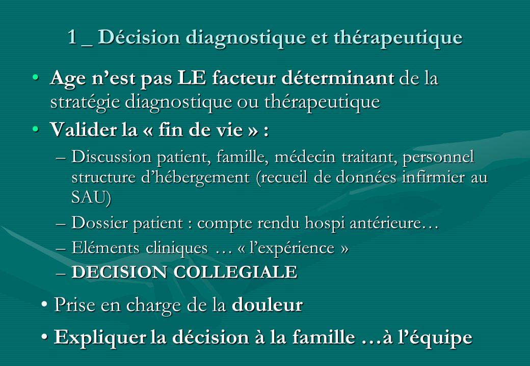 1 _ Décision diagnostique et thérapeutique