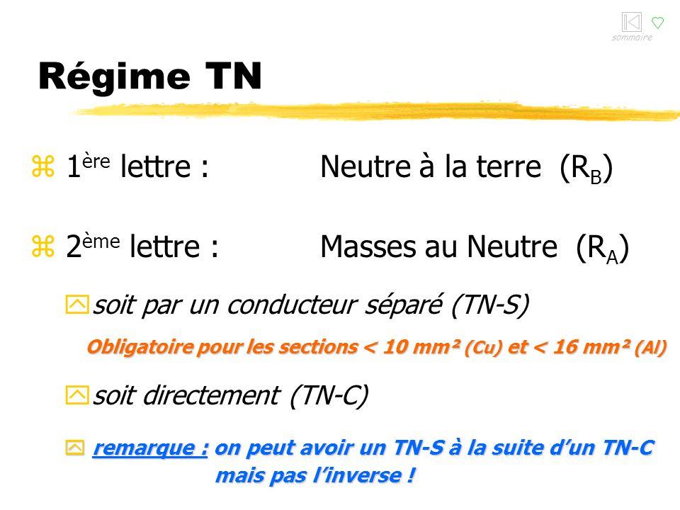 Régime TN 1ère lettre : Neutre à la terre (RB)