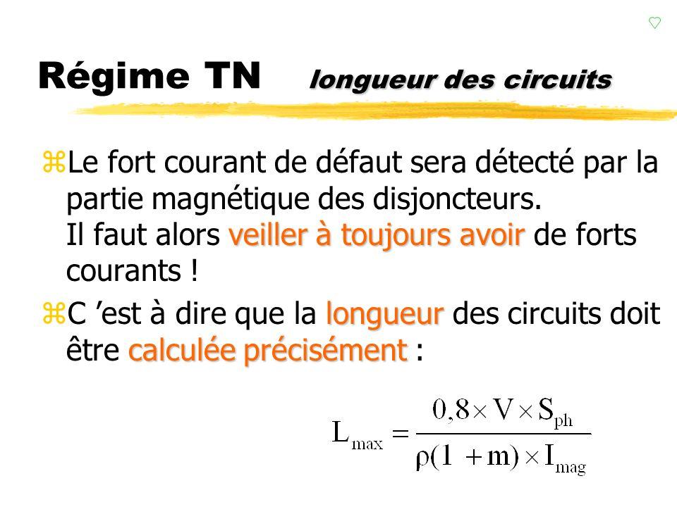Régime TN longueur des circuits