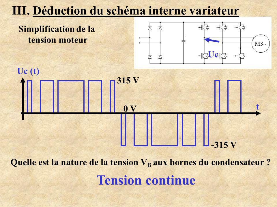 Tension continue III. Déduction du schéma interne variateur