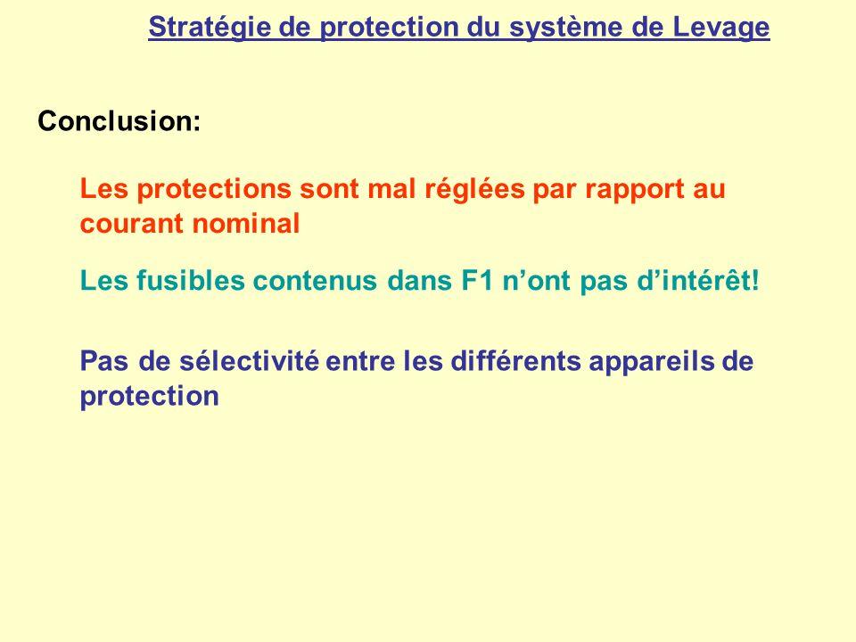 Stratégie de protection du système de Levage