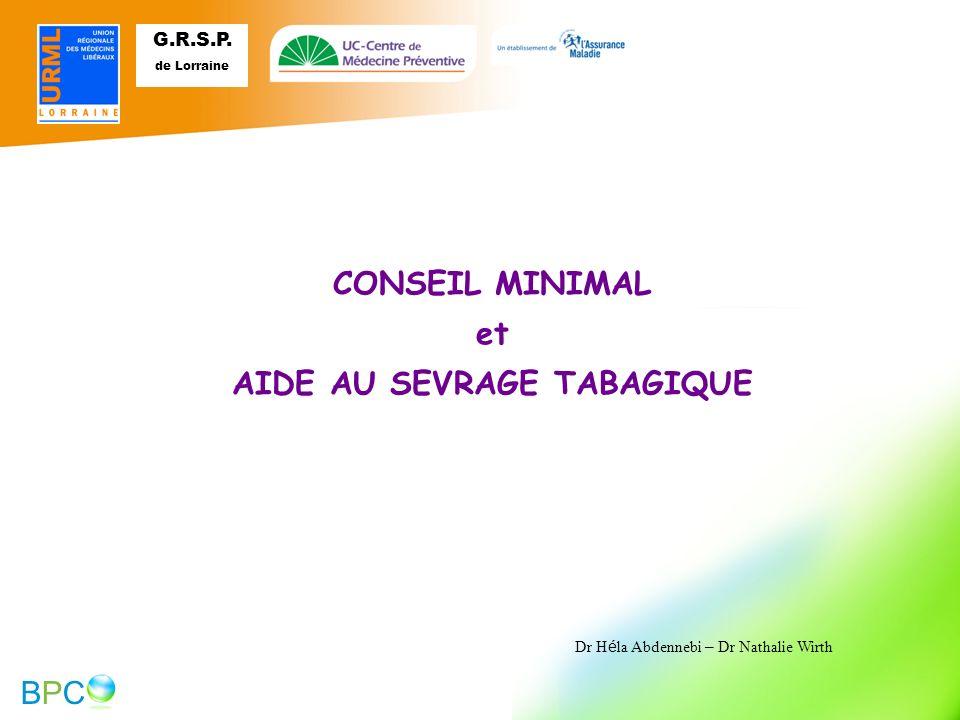 AIDE AU SEVRAGE TABAGIQUE