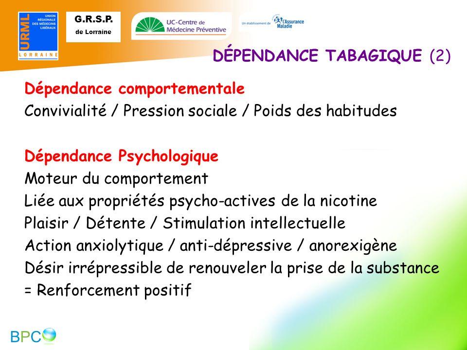DÉPENDANCE TABAGIQUE (2)