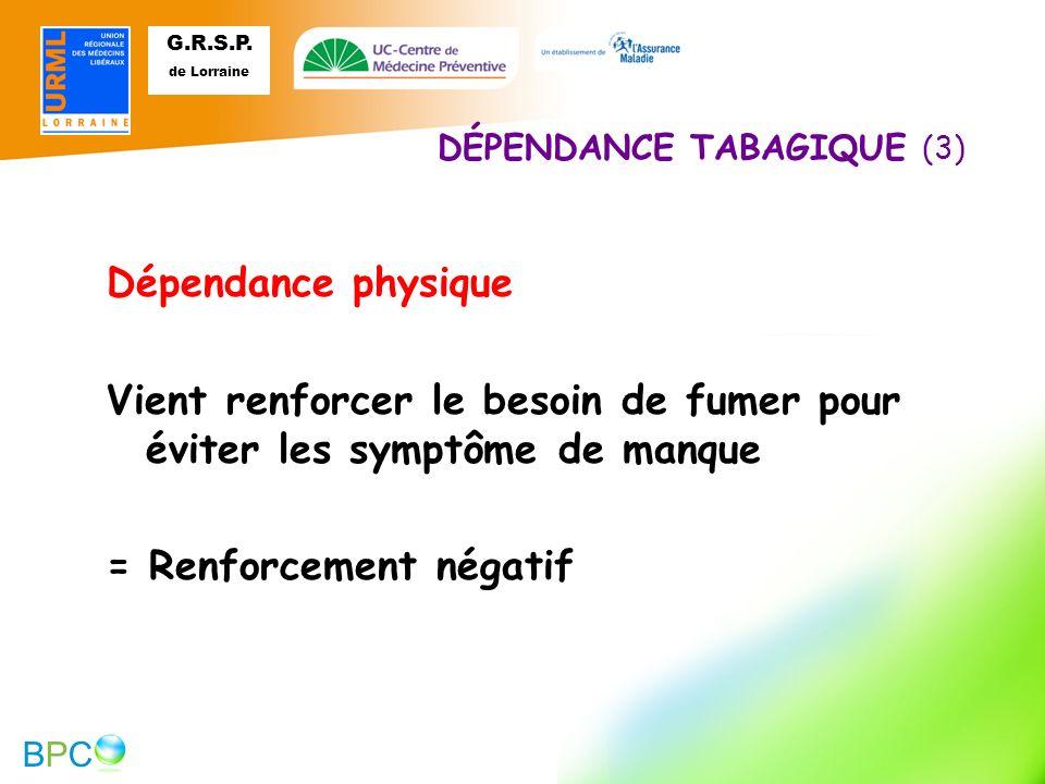DÉPENDANCE TABAGIQUE (3)