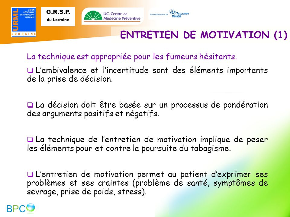 ENTRETIEN DE MOTIVATION (1)