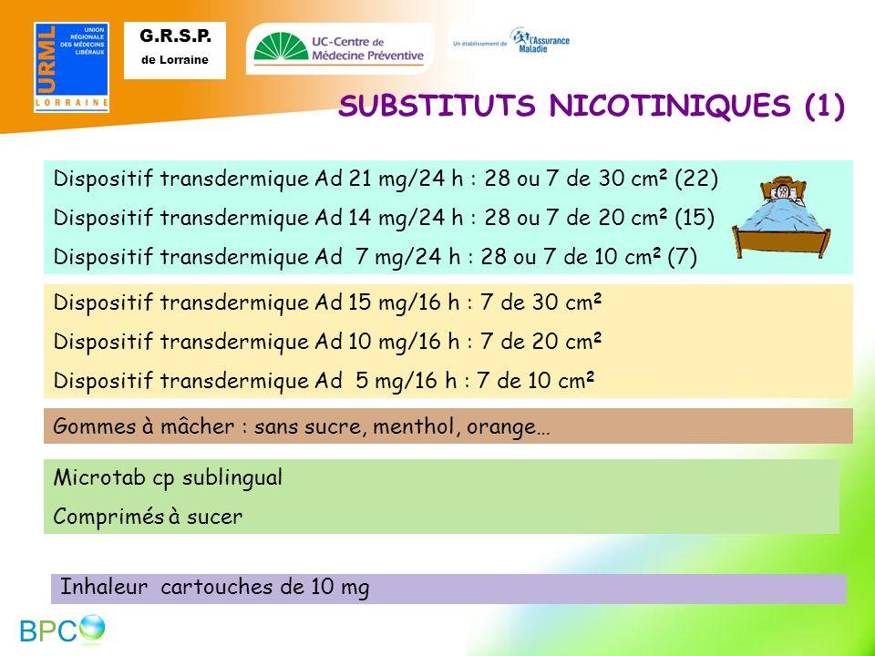 SUBSTITUTS NICOTINIQUES (1)